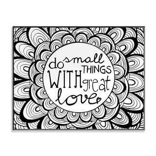 Do Small Things with Great Love DIY Coloring Wall Plaque