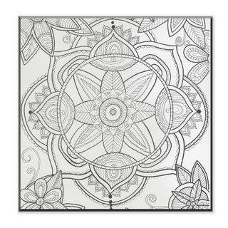 Kaleidoscope Pond Flower DIY Coloring Wall Plaque