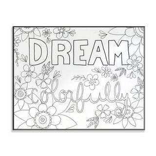 Dream Colorfully DIY Coloring Wall Plaque