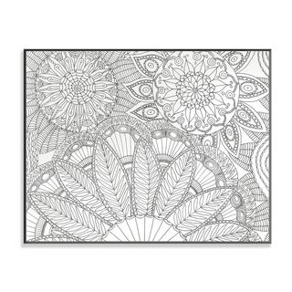 Jungle Floral DIY Coloring Wall Plaque