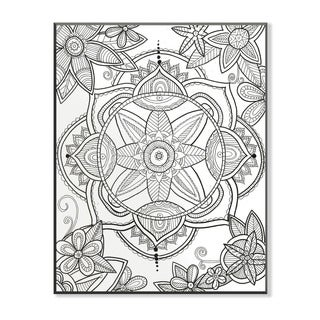 Kaleidoscope Floral Pond DIY Coloring Wall Plaque