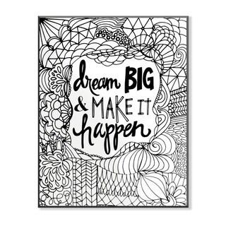 Dream Big and Make it Happen DIY Coloring Wall Plaque