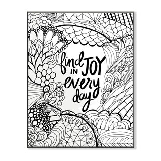 Find Joy in Every Day DIY Coloring Wall Plaque