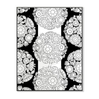 Floral Topiary DIY Coloring Wall Plaque