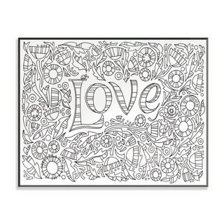 Garden of Love DIY Coloring Wall Plaque