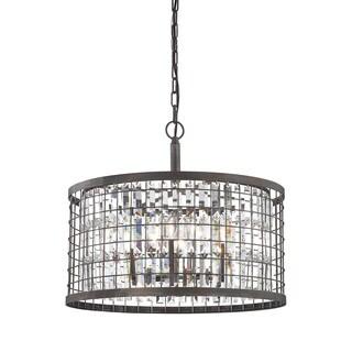 Elk Nadina 6-light LED Chandelier in Silverdust Iron