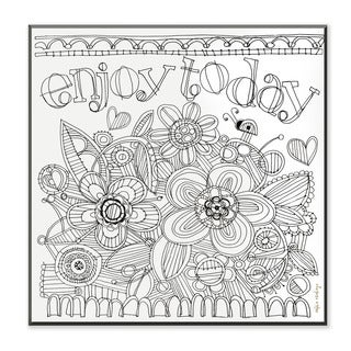 Enjoy Today DIY Coloring Wall Plaque