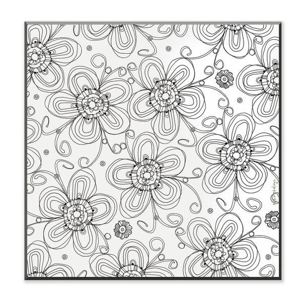 Posie Pattern DIY Coloring Wall Plaque