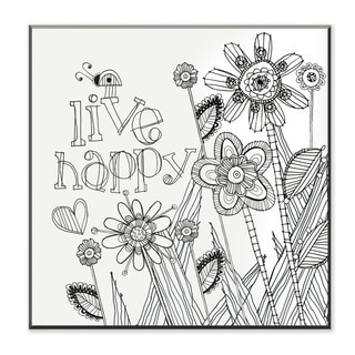 Live Happy DIY Coloring Wall Plaque
