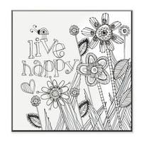 Live Happy DIY Coloring Wall Plaque