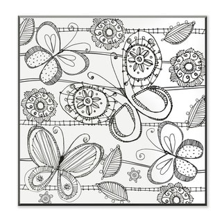 Butterfly DIY Coloring Wall Plaque