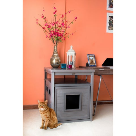 New Age Pet ecoFLEX Jumbo Litter Loo Hidden Kitty Litter Box End Table