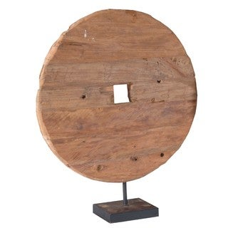 Crafted Home Anderson Small Tire Wood on Stand