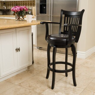 Prescott 31-inch Armed Bonded Leather Swivel Barstool by Christopher Knight Home|https://ak1.ostkcdn.com/images/products/11345107/P18318955.jpg?_ostk_perf_=percv&impolicy=medium