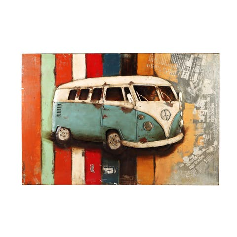 Aurelle Home Adele VW Bus Wall Decor
