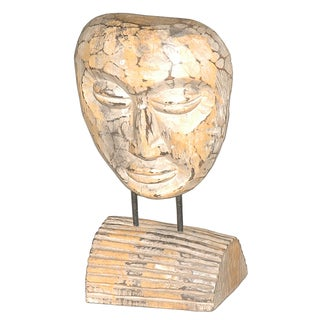 Crafted Home Cooper Natural Mask Décor