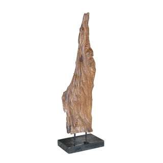 Crafted Home Cooper Tall Root Wood Décor