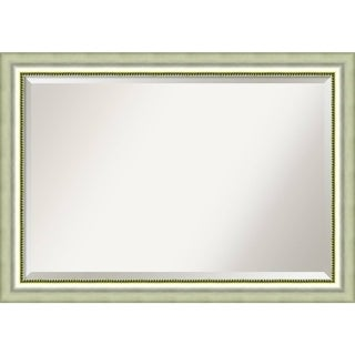 Wall Mirror Extra Large, Vegas Burnished Silver 41 x 29-inch