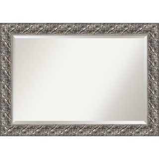Wall Mirror Extra Large, Silver Luxor 42 x 30-inch