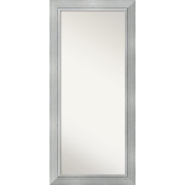Floor / Leaner Mirror, Romano Silver Wood 32 x 68-inch