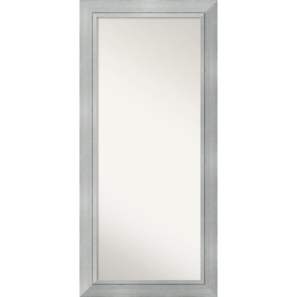 Floor / Leaner Mirror, Romano Silver Wood 32 x 68-inch