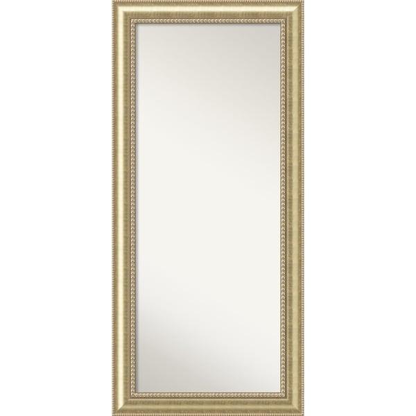 Floor / Leaner Mirror, Astoria Champagne Wood 31 x 67-inch - Free ...
