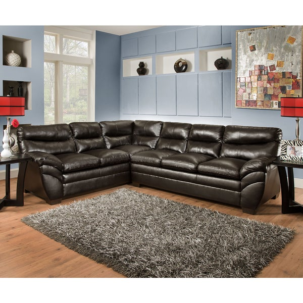 Simmons Upholstery Soho Espresso Sectional Free Shipping Today Overstock 18319079