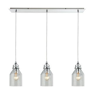Elk Pendant Options 3-light LED Linear Pendant in Polished Chrome