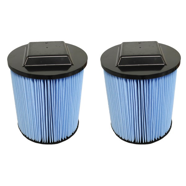 shop 2pk replacement filters, fit ridgid 6-20 gallon wet & dry vacs ...