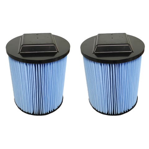 2pk Replacement Filters, Fit Ridgid 6-20 Gallon Wet & Dry Vacs, Compatible with Part VF5000