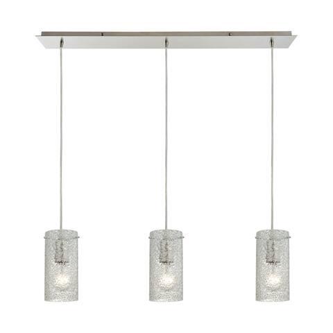 Elk Pendant Options 3-light LED Linear Pendant in Satin Nickel - Satin Nickel