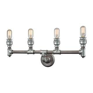 Elk Cast Iron Pipe 4-light Vanity in Weathered Zinc