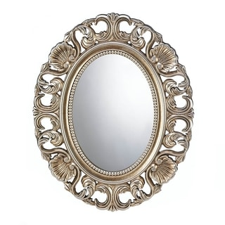 Antique Style Golden Oval Wall Mirror