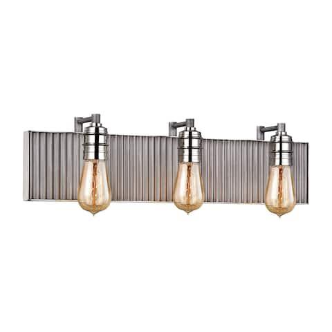 Elk Corrugated Steel 3-light Vanity
