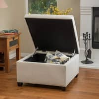 Cortez Fabric Storage Ottoman by Christopher Knight Home