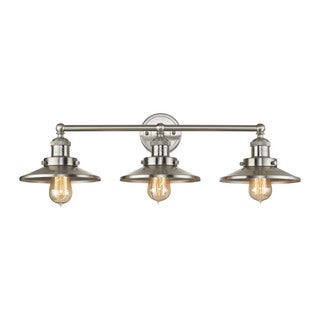 Elk English Pub 3-light Vanity in Satin Nickel