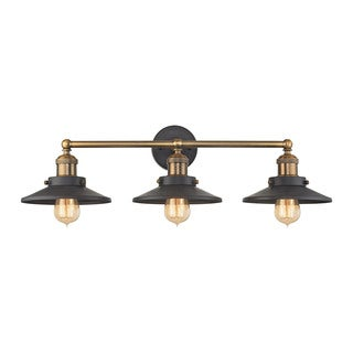 Elk English Pub 3-light Vanity in Tarnished Graphite and Antique Brass
