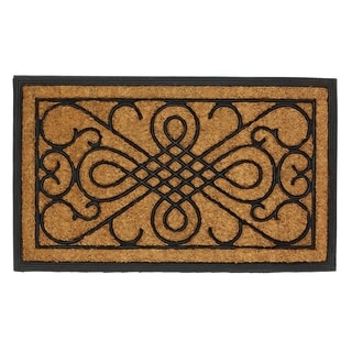 Rectangular Scrollwork Door Mat