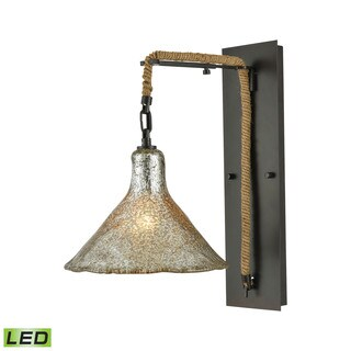 Elk Hand Formed Glass 1-light LED Wall Sconce in Oil Rubbed Bronze