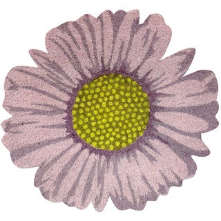 Daisy Flower-Shaped Vinyl Backed Coir Door Mat