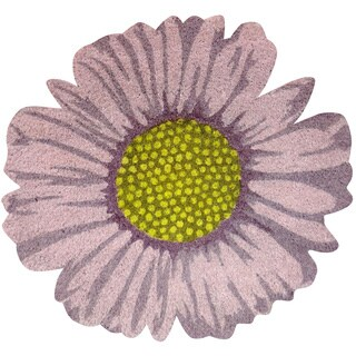 Daisy Flower-Shaped Vinyl Backed Coir Door Mat