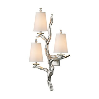 Elk Sprig 3-light Wall Sconce in Silver Leaf