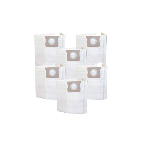 6pk Replacement Bags, Fits Vacmaster 5-6 Gallon Wet & Dry Vacs, Compatible with Part # VDBS