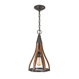 Elk Wood Arches 1-light LED Pendant in Oil Rubbed Bronze