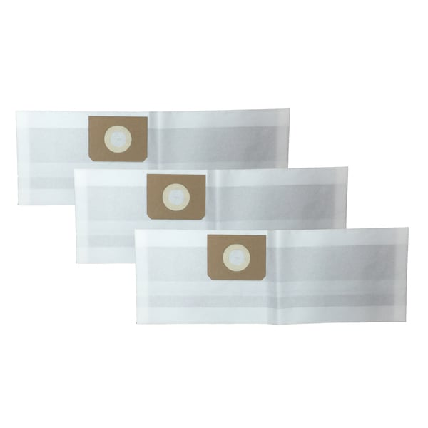 3pk Replacement Bags Fits Vacmaster Vf408 Wet Dry Vacs 4 Gal Cap Compatible With Part Vfdb