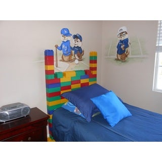 96-piece Jumbo Blocks Boys Headboard