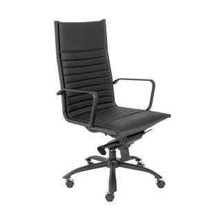 Euro Style Black/ Matte Black Dirk-PC HB Office Chair