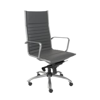 Euro Style Grey/ Matte Grey Dirk-PC HB Office Chair