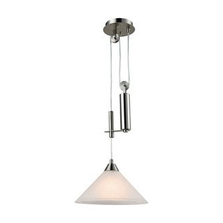 Elk Elysburg 1-light LED Pendant in Satin Nickel