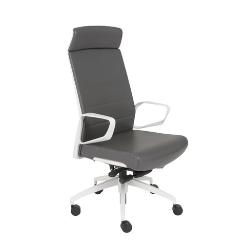 Euro Style Grey/ White Gotan-PC HB Office Chair